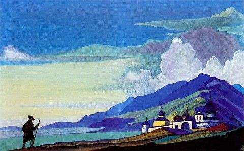 Nicholas Roerich, Wanderer from the Resplendent City, 1933
