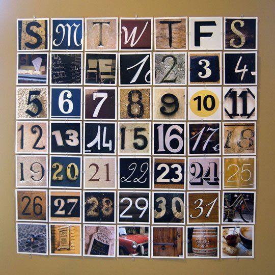 Perpetual Paris Calendar By Little Brown Pen  Gallery Wall