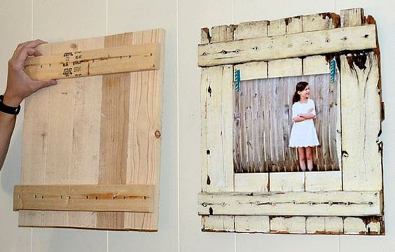 Rahmen rustikal Holz Deko Flur gestalten