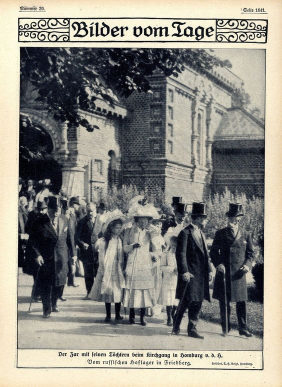 The Tsar and OTMA in Bad Homburg, Germany in 1910