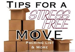Great tips for how to have a stress-free moving experience.