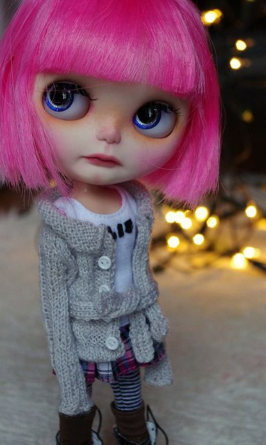 I love everything about this outfit: layers, patterns, boots. #blythe