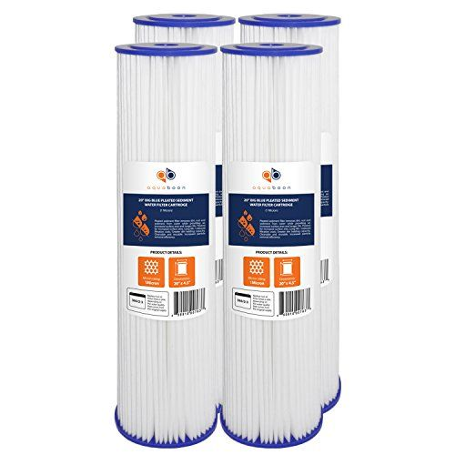 4 Pack Of 1 Micron Big Blue 20 Water Filter Water Filter Cartridge Sediment
