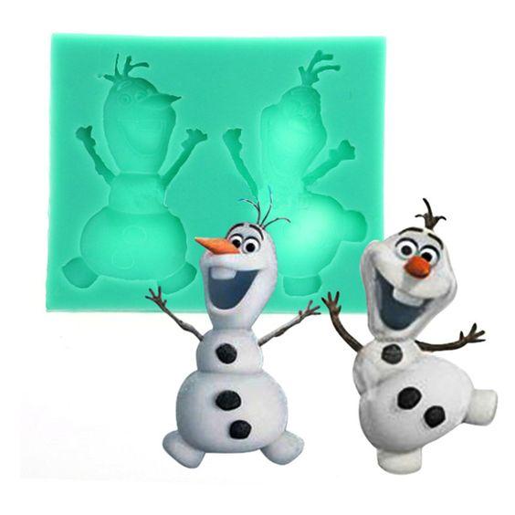 Snowman Olaf Silicone Mold