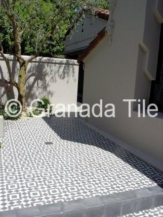 Exterior and Outside Tile Photos - Cement and Concrete Exterior Tile Flooring