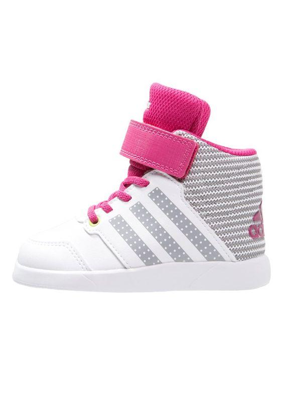 adidas Performance JAN BS 2 MID Sneaker high white/clear onix/pink für Kinder