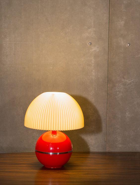 5,500 Baht // LAMP#009 RETRO MUSHROOM LAMP / Size 25x25x35cm