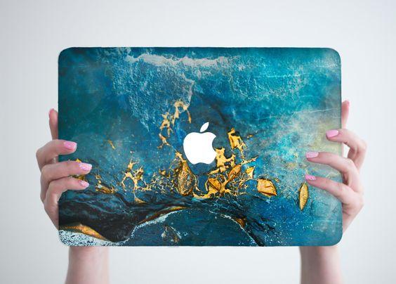 Blue Gold Marble Macbook Case Hard Laptop Case Cover Marble Macbook Air Case Marble Macbook Pro Case MacBook Air 13 Air 11 case Marble Cover by RealDesignRocks on Etsy https://www.etsy.com/uk/listing/289885187/blue-gold-marble-macbook-case-hard