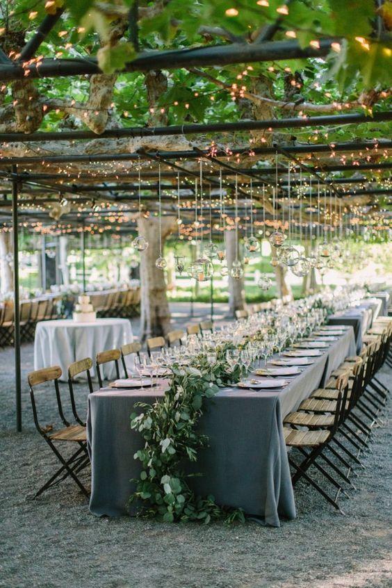 Stunning Napa Wedding Illuminates The Garden - MODwedding. Romantic Wedding Lighting Ideas #weddinginspiration