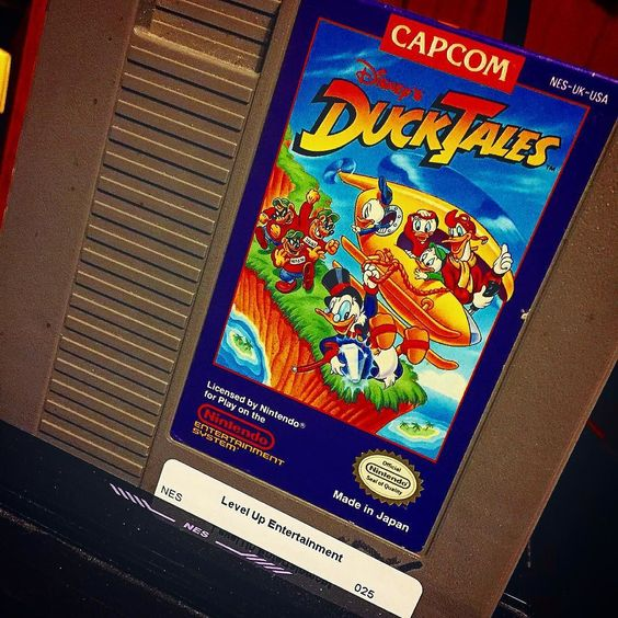 Duck Tales Remastered was on sale on #Steam for just a few bucks last week. I decided to pass on it for the time being due to the conflicting reports of a game-breaking bug that exists for some (not all) Nvidia users. I decided instead to play it safe and pick up OG #DuckTales at @levelup_entertainment for the #NES instead. It's seen here in my #Retron5 (my favorite way to play #retro games on modern TVs). #geek #Capcom #Disney #ScroogeMcDuck #ThisGameIsFreakinDifficult