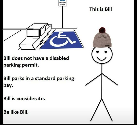 Love this! Had a nightmare parking at the dental hospital today  rraaahhhh!! Silly parking rules for disabled people  #disability #mobility #mecfs Vic xx