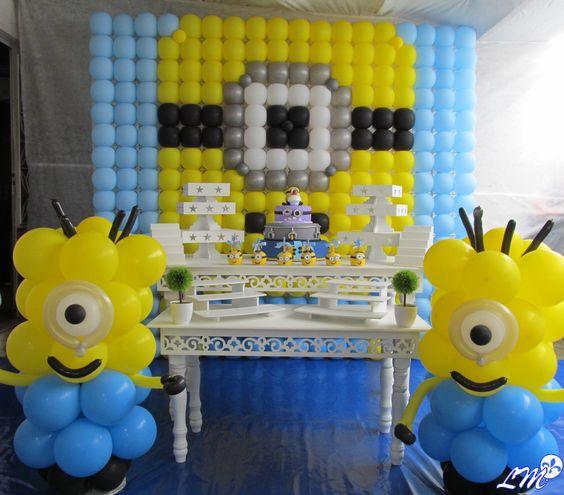decoração Minions  contato@tudodefestas.com.br