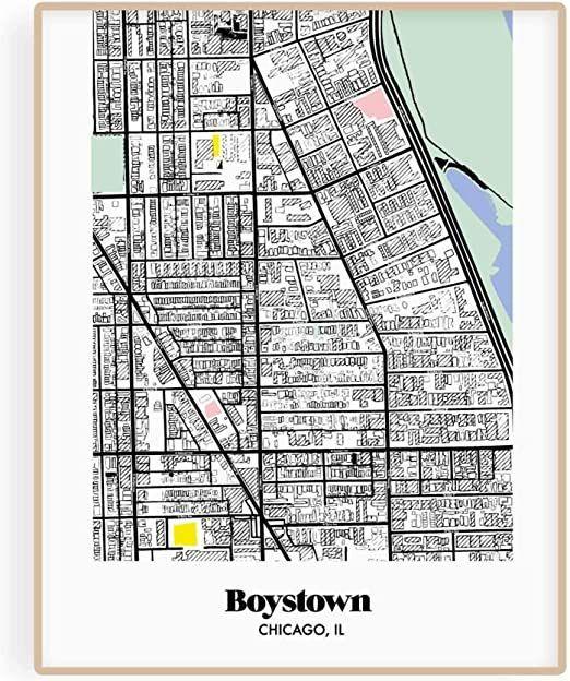 Pin On Chicago Neighborhood Maps Wall Decor