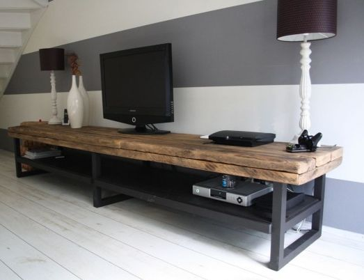 idee meuble tv fait maison. Black Bedroom Furniture Sets. Home Design Ideas