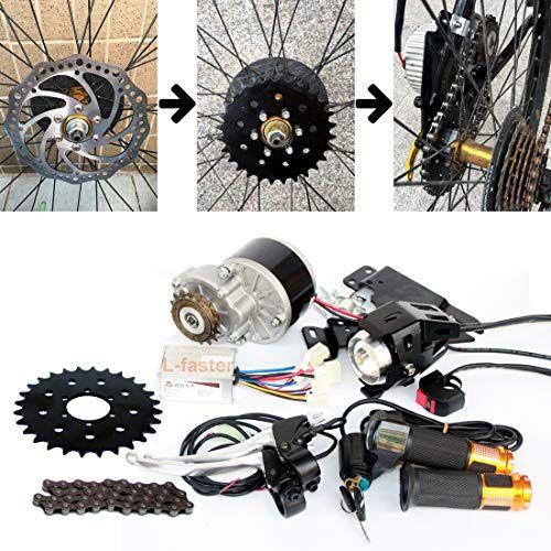 L Faster 250w Brush Motor Electric Bicycle Conversion Kit Mountain