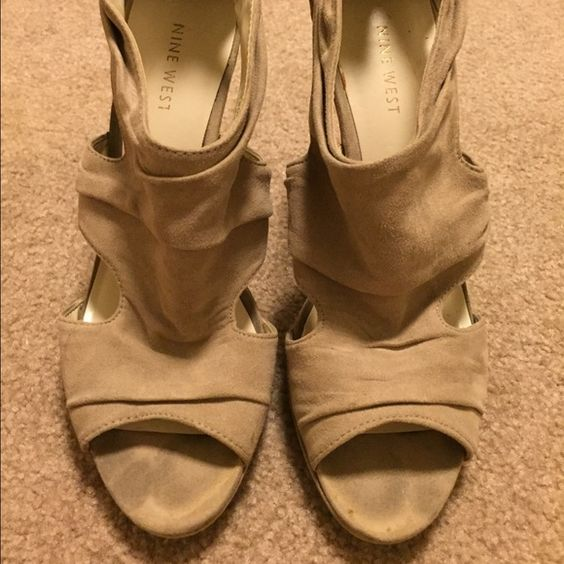 Tan Suede Heels Super cute tan heels. Gently worn. Shoes Heels