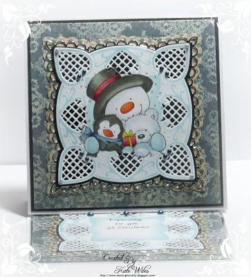 Snowman Hugs by Wild Rose Studio's