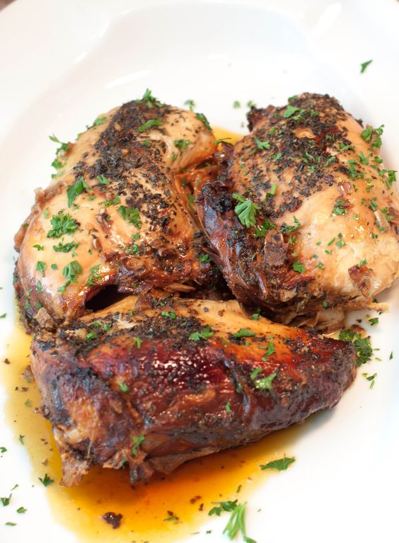 5 minutes of prep for a super easy weeknight Crock Pot Balsamic Chicken: