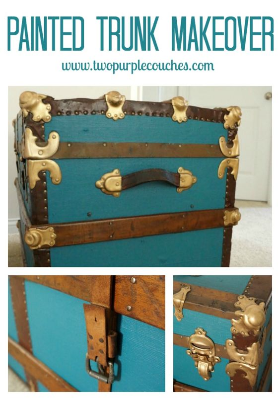 How to Paint a Vintage Trunk