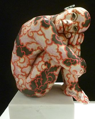Rabarama - Applic-azioni (Applic-ations)  Painted Bronze Edition 2/8 - Elaine Baker Gallery
