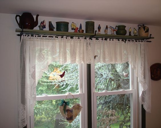 Curtains, Shelves and Curtain rods on Pinterest