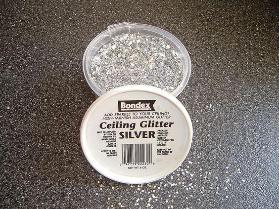 Images of painted ceiling with glitter | Silver glitter for ceilings~ who knew?  Can't decide if i want a white, silver or pink ceiling with glitter...