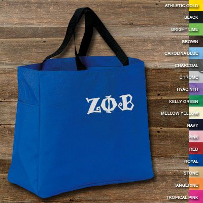 Zeta Phi Beta Sorority Essential Tote $20.99
