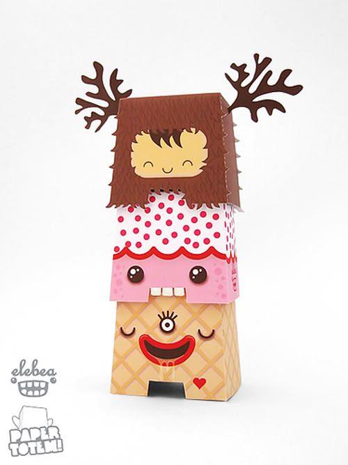 Paper Toys Navideños   Cherry Blog