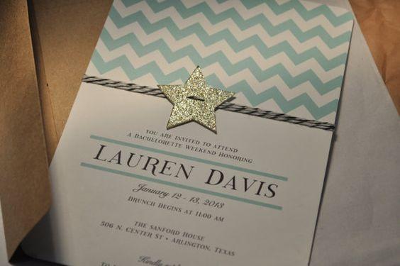 Chevron glitter star and bakers twine mint by PenelopeandLala