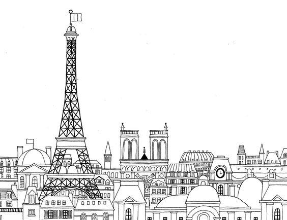 paris coloring book - Pesquisa Google