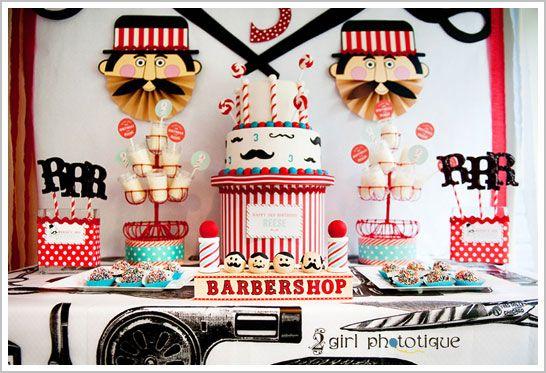 vintage inspired Barbershop/mustache party