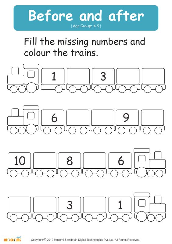 Before and After Number Math Worksheet for Kids For more – Kids Maths Worksheet