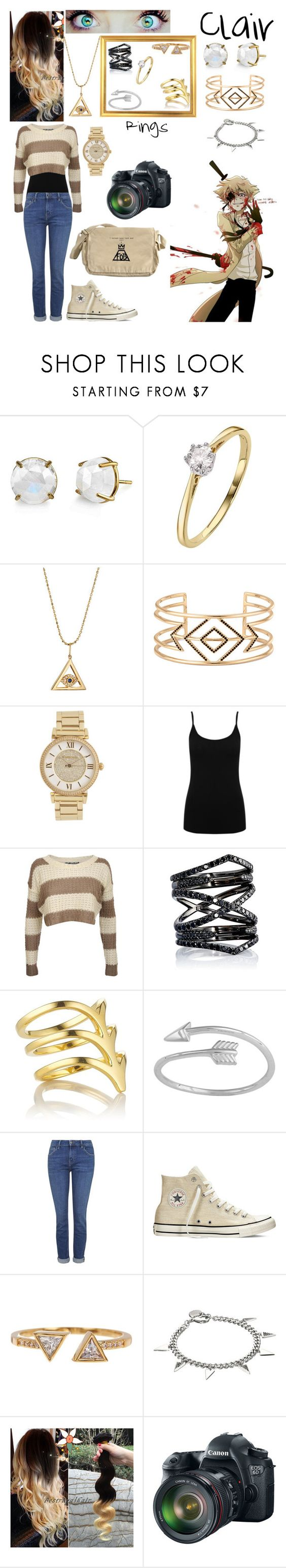 """Taking photos and (eventually) meeting Bill Cipher"" by nebulaprime ❤ liked on Polyvore featuring beauty, Irene Neuwirth, Sydney Evan, Stella & Dot, Michael Kors, M&Co, Pilot, Eva Fehren, Smith/Grey and Midsummer Star"