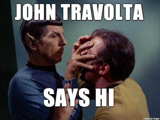 The Travolta meme just keeps rollin'...