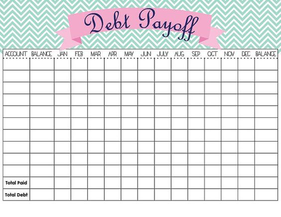 budget template to pay off debt - debt payoff tracker template etsy templates and debt payoff