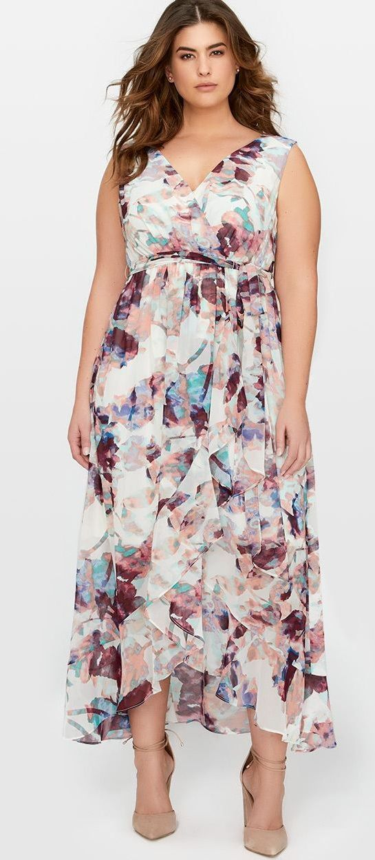Plus Size Maxi Dress - Plus Size Fashion for Women #plussize