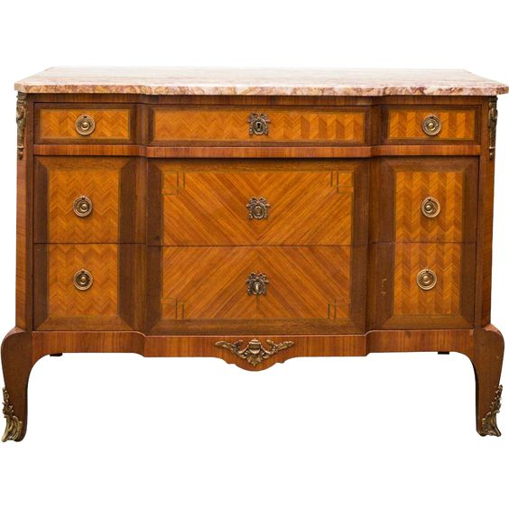Antique French Louis XV Style Dresser from maisondecorantiques on Ruby Lane