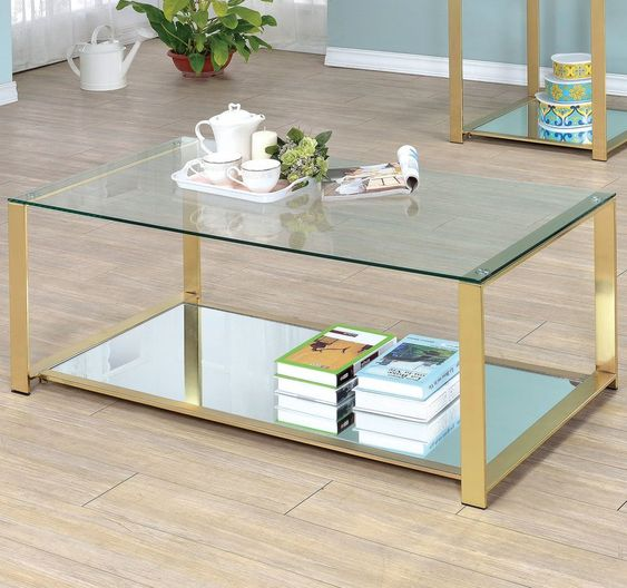 Ruchelly Metal Frame Coffee Table Coffee Table Coffee Table Metal Frame Coffee Table Setting
