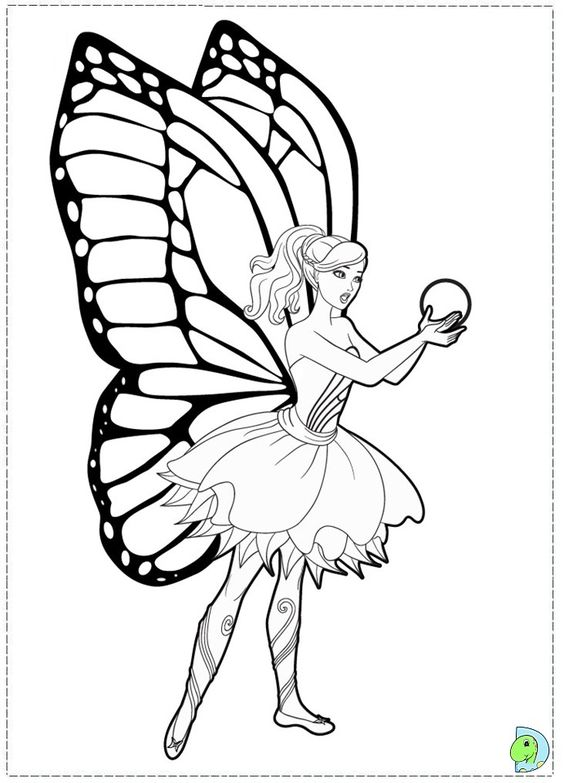Barbie mariposa and the fairy princess coloring page - Coloriage barbie fee ...