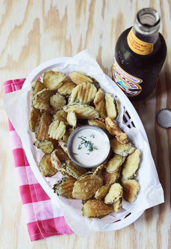 Verve Stamps   Fried Pickles, Homemade and Beer