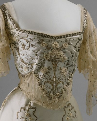 beautiful antique beaded gown