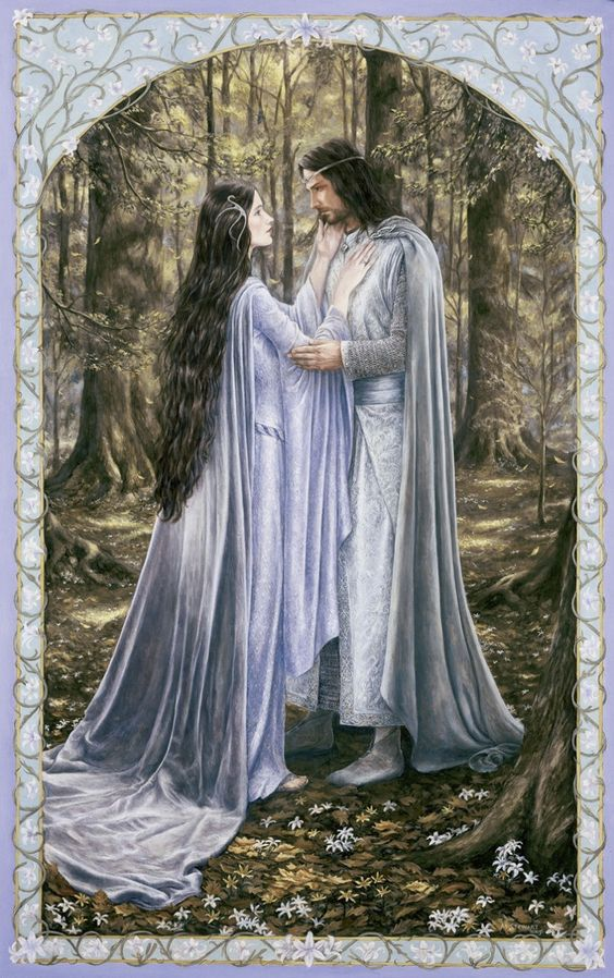 Arwen and Aragorn - Lord of the Rings - by Matthew Stewart: