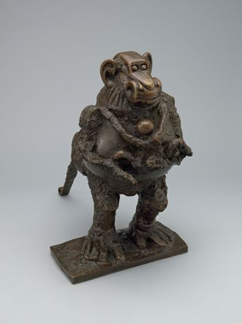 """Pablo Picasso, Baboon and Young, 1951, Vallauris, bronze, 21"""" x 13¼"""" x 20¾"""". ©2015 ESTATE OF PABLO PICASSO/ARTISTS RIGHTS SOCIETY (ARS), NEW YORK/THE MUSEUM OF MODERN ART, NEW YORK, MRS. SIMON GUGGENHEIM FUND"""