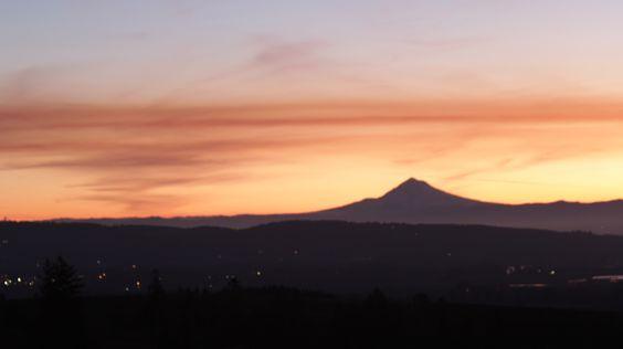Sunrise taken near Dayton Oregon