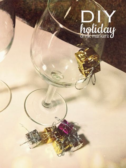 DIY Holiday Drink Markers: