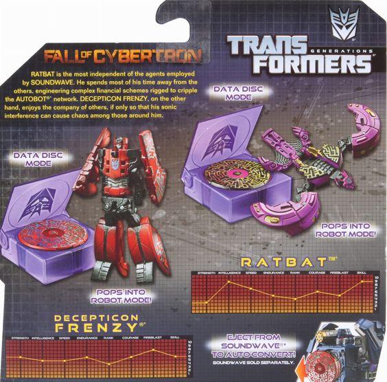 Legends Class Decepticon Frenzy & Ratbat (Transformers, Generations, Decepticon) | Transformerland.com - Collector's Guide Toy Info