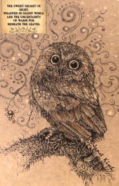 sepia owl ~ Janet Kisch