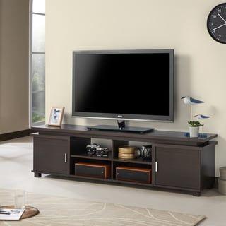 Furniture Of America Mollens Contemporary Espresso Open Storage 70 Inch Tv Stand Home Entertainment Centers Furniture Of America Furniture