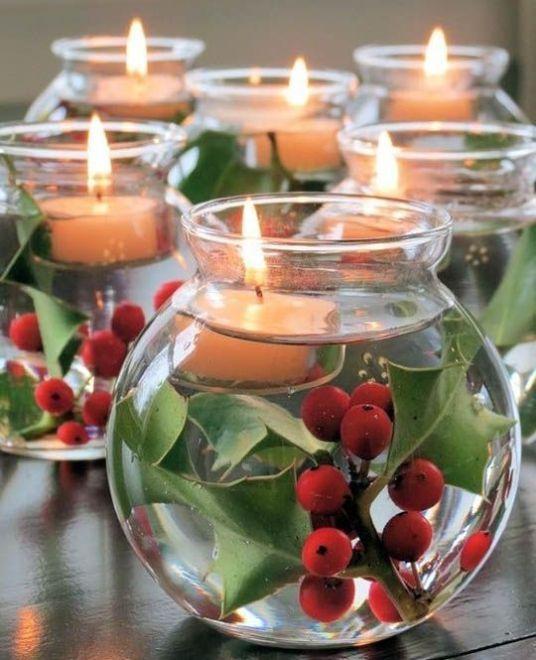 15 Christmas Party Decor Ideas Diy Christmas Table Christmas Candle Decorations Christmas Table Decorations
