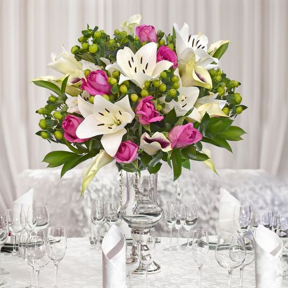 30 stems Mixed bouquet 50cm Royal Affair - White and Hot Pink - Pack 5- EbloomsDirect Where to Buy Bulk Flowers Online for Your Wedding - #wedding #centerpieces #roses #Garden #Flowers #peonies #events #bouquets #arrangement #party  #BabysBreath #centerpieces #autumn #recipes #bridal #floral #DIY #gift #valentines #bride #blooms #anniversary #mothersday #baby #USA #Costco, #art #Texas #design #SamsClub #fiftyflowers #GlobalRose #BloomsbytheBox #Bloominous #ThePerfectPalette #theweddingpages